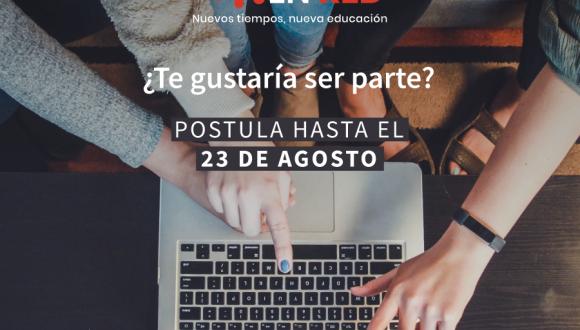 """Hasta el 23 de agosto puedes postular al nuevo programa """"Profes en Red"""""""